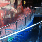 Commercial Melbourne Aquarium Crocodile exhibit handrails