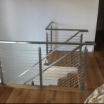 Domestic handrails wire balustrade