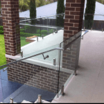 Domestic handrails with glass spigots